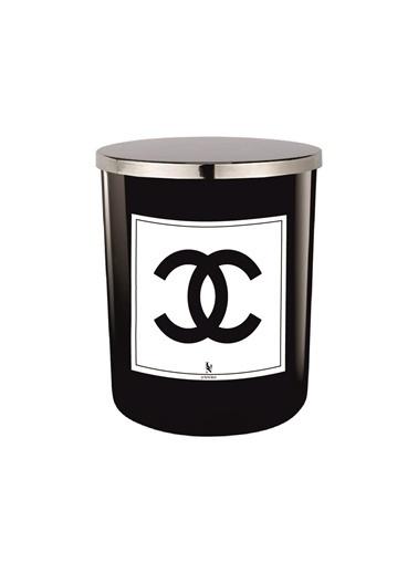 Lyn Home & Decor Chanel Siyah Bardak Mum Siyah